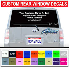 100 Custom Window Decals For Trucks US 007 30 OFF Vinyl Car Stickers Rear Windshield Wrap Vehicle Advertising Ization High Qualityin Car Stickers From