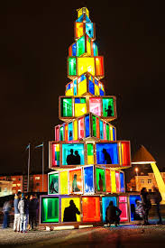 The 39 Foot Tall Eco Friendly Creation Is Made Of 121 Colored Windows Sourced From Old Houses Credit Getty Images