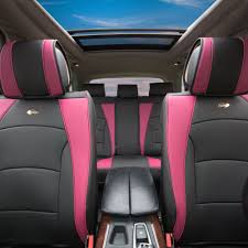 BESTFH: Car SUV Truck PU Leather Seat Cushion Covers Full Set Pink ... Quality Breathable Flax Fabric Car Seat Cushion Cover Crystal New Oasis Flotation Truck Specialists Silica Gel Non Slip Chair Pad For Office Home Cool Vent Mesh Back Lumbar Support New Universal Size Cheap Cushions Find Deals On Line At Silicone Massage Anti The Shops Durofoam 002 Chevy Tahoe Dewtreetali Beach Mat Sports Towel Fit All Wagan Tech Soft Velour 12volt Heated Cushion9438b