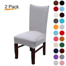 Anclle Slipcovers -Chair Covers Solid Large Dining Room Chair Protector  Home (Light Gray, Pack Of 2) Ding Set Makeover In Ascp Paris Grey Party Rent Rental For Events And Hospality Jf Chair Covers Excellent Quality Chair Covers Delivered Tips To Mix Match Room Chairs Successfully Ikea Henriksdal With Long Cover Dark Brown Orrsta Slipcovers Sets Stretch Fniture Buy Online Singapore Hipvan Rooms Rugs Ideas Decorating For Small Spaces 18 Best Paint Colors Modern Color Schemes Century Lamps Fuse Fascating Target Table Us 07 40 Off124pc Floral Prting Elastic Spandex Wedding Office Banquet Housse De Chaise Cover On Are Dark Green Walls The New White Short Answer We