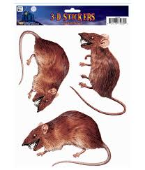 Halloween Scene Setters 2017 by Cling Realistic Rat Sticker Props U0026 Decorations