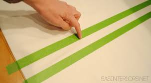 Green Striped Curtain Panels by Diy How To Hem No Sew And Add Stripes To Curtains Using Paint
