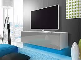 tv schrank lowboard hängeboard simple mit led blau weiß matt grau hochglanz 160 cm