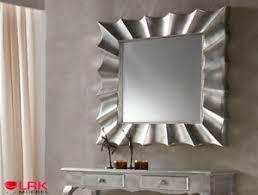 details zu pu069 dupen design spiegel extravagant edel silber diele flur möbel wandspiegel