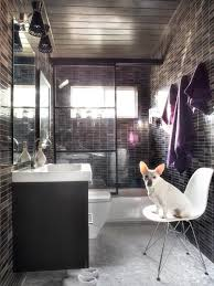 modern small bath makeover hgtv