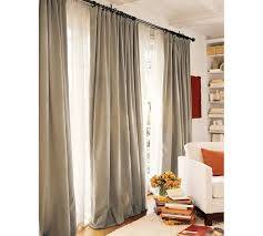 Pottery Barn Outdoor Curtains by Blackout Curtains Double Width Curtain Ideas Wide Window Patio