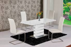 100 White Gloss Extending Dining Table And Chairs 25 Best Collection Of High Extendable S