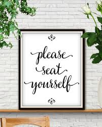 Funny Bathroom Art Etsy by Please Seat Yourself Seat Yourself Wedding Seating Sign Seating