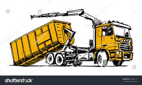 100 Truck Hoist Hooklift Illustration Stock Vector Royalty Free