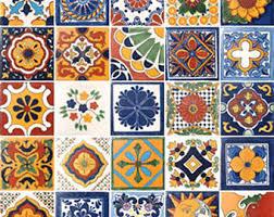 mexican tile decor etsy