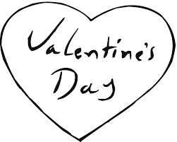 Valentines Day Heart Black And White Clipart