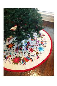 Crushed Voile Curtains Christmas Tree Shop by 235 00 Handmade Otomi Embroidered Small Christmas Tree Skirt 36