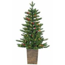 4ft Green Pre Lit Christmas Tree by Remote Control Artificial Christmas Trees Christmas Trees