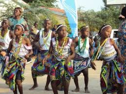 Children Performing A Traditional Dance