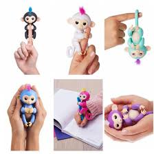 6 COLOR INTERACTIVE FINGERLINGS BABY MONKEY PET GIFT TOY WITH FREE 4 BATTERIES