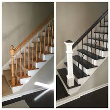 Renovating Stairs. Wrought Iron. Wood Floor Finishing. Clean Lines ... Wrought Iron Stair Railings Interior Lomonacos Iron Concepts Wrought Porch Railing Ideas Popular Balcony Railings Modern Best 25 Railing Ideas On Pinterest Staircase Elegant Banisters 52 In Interior For House With Replace Banister Spindles Stair Rustic Doors Double Custom Door Demejico Fencing Residential Stainless Steel Cable In Baltimore Md Urbana Def What Is A On Staircase Rod Rod Porcelain Tile Google Search Home Incredible Handrail Design 1000 Images About