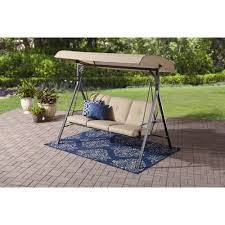 Mainstays Patio Furniture Manufacturer by Mainstays Forest Hills 3 Seat Cushion Swing Walmart Com