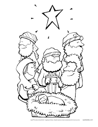 Nativity Story Coloring Pages Free Printable Sunday School Christmas Colors Print To Download