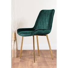 caba gepolsterter esszimmerstuhl perspections upholstery colour green farbe der beine goldfarben