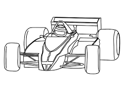 Image Of Race Car Color Pages