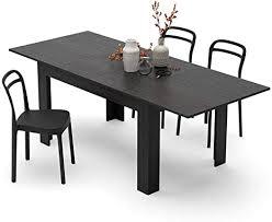 mobili fiver ausziehtisch küche easy esche schwarz 140 x 90 x 77 cm