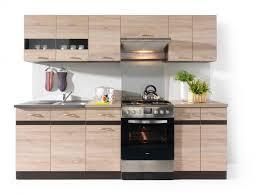küche küchenzeile junona 240cm eiche sonoma eiche sonoma