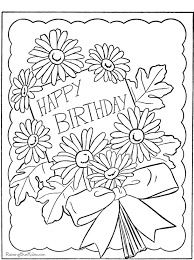 Lofty Design Ideas Coloring Pages Birthday Cards Happy Page To Print And Color