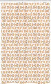 abakuhaus duschvorhang badezimmer deko set aus stoff mit haken breite 120 cm höhe 180 cm eichhörnchen pastell natur blätter nüsse kaufen