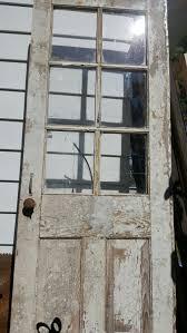Vintage Wood Door Six 6 Pane Old Rustic Wedding Decor Exterior Farmhouse Building Supply C43