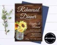 Rustic Wedding Rehearsal Dinner Invitation Template
