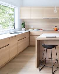 Kitchen Light Wood Cabinets Natural Kitchen Modern Faucets City
