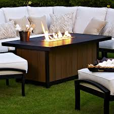 Meadowcraft Patio Furniture Cushions by Meadowcraft Maddux Slat Top Propane Firepit Table Charcoal