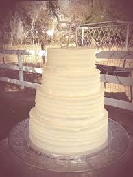 Plain Rustic All Buttercream Wedding Cake
