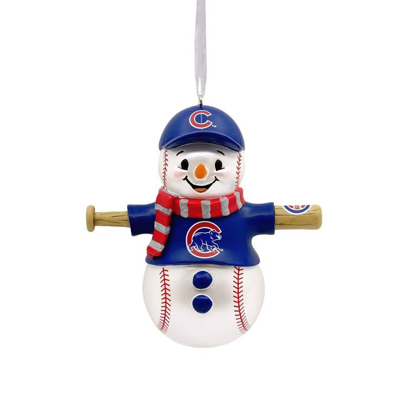 Hallmark MLB Chicago Cubs Snowman Ornament