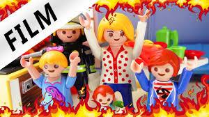 playmobil die küche brennt brand im puppenhaus kinderserie familie vogel