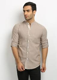 buy nick u0026jess mens brown mandarin collared shirt online best