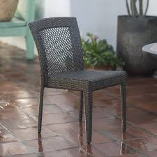 Coral Coast Brisbane All Weather Wicker Open Patio Dining Chair