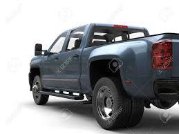 Cool Blue Metallic Pickup Truck - Rear Wheel Closeup Shot Stock ...