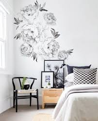 Peony Flowers Wall Sticker Watercolor Stickers Peel With