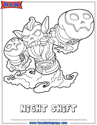 Skylanders Swap Force Undead Night Shift Coloring Page
