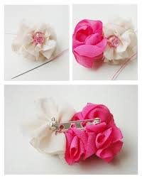 How To Make Handmade Brooches Fabric Flower Brooch Pertaining Flowers