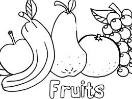 Coloring Pictures Of Fruit Salad Pages Fruits In A Bowl Page