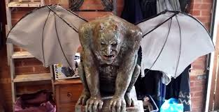 Diy Halloween Coffin Prop by Diy Anamatronic Halloween Gargoyle Prop 2014 Prototype Youtube