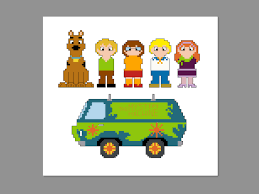 Scooby Doo Pumpkin Carving Stencils Patterns by Scooby Doo Pixel People Character Cross Stitch Pdf Pattern