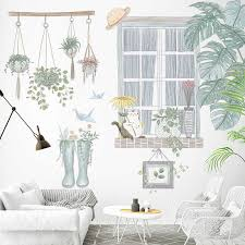 diy grün pflanzen moderne home dekoration wand aufkleber gemälde für wohnzimmer schlafzimmer wand decals poster tapete