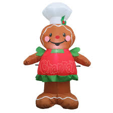 Grinch Blow Up Yard Decoration by Gingerbread Man Christmas Inflatable Gingerbread Man Christmas
