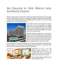 Get Discounts On Hotel Booking Using Quicktoclick Coupons By ... How To Use Cheapticketscom Coupon Codes Priceline Flight Coupon 2019 Get Discounts On Hotel Booking Using Qutoclick Coupons By Orlandodealhurmwpcoentuploads2701w Hotel Codes Wicked Ticketmaster Code Treebo Coupons Promo Code Exclusive Sale Dec 0203 75 Off Expedia Singapore December Barcelocom Best Travel Deals For June Las Vegas Purr Smoking Promo Official Travelocity Discounts