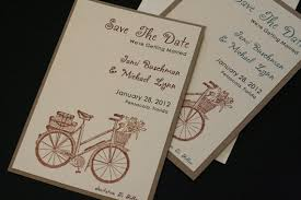 Save The Date Country Rustic Wedding Bicycle Vintage Unique Kraft Cardstock Tying Knot Christian Shabby Chic
