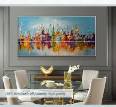 große leinwand wand kunst abstrakte moderne dekorative bilder new york stadt ölgemälde auf leinwand für wohnzimmer dekoration