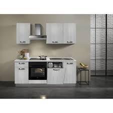 küchenzeile 210 cm eiche weiß